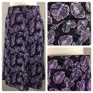 EUC Sag Harbor 3X floral flare skirt